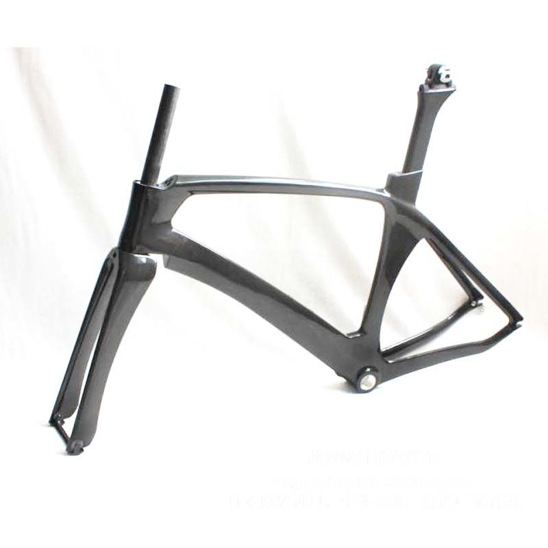 Full Aero Carbon Track Bike Frame 700C  , Road Custom Bicycle Frames Parts TT