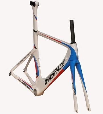 Single Speed Aero Track Bike Frame Carbon Fiber 700C Customized Aero Multi Color